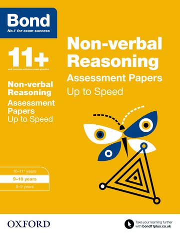Bond 11+: Non-verbal Reasoning: Up to Speed Papers