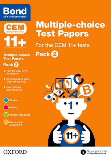 Bond 11+: Multiple-choice Test Papers for the CEM 11+ tests Pack 2