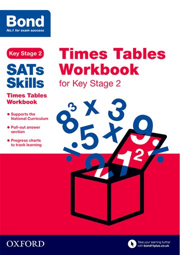 Bond Skills Times Tables for Key Stage 2 (pack of 15)