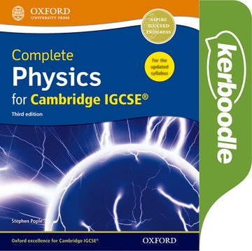Complete Physics for Cambridge IGCSE Kerboodle: Online Practice and Assessment