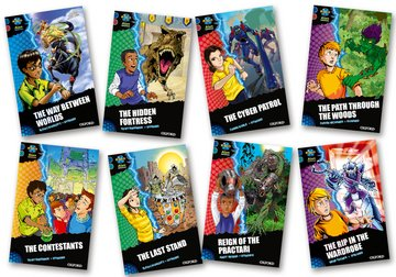 Project X <i>Alien Adventures</i>: Dark Blue Book Band, Oxford Levels 15-16: Dark Blue Book Band, Mixed Pack of 8