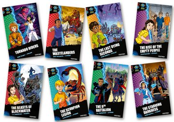 Project X <i>Alien Adventures</i>: Dark Red + Book Band, Oxford Levels 19-20: Dark Red + Book Band, Mixed Pack of 8