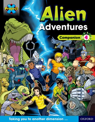 Project X <i>Alien Adventures</i>: Dark Blue Dark Red + Book Bands, Oxford Levels 15-20: Companion 4 Pack of 6