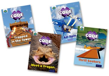 Project X CODE <i>Extra</i>: Light Blue Book Band, Oxford Level 4: Dragon Quest and Wild Rides, Mixed Pack of 4