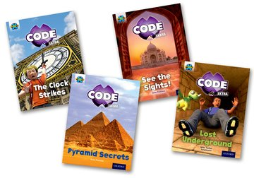 Project X CODE <i>Extra</i>: Purple Book Band, Oxford Level 8: Wonders of the World and Pyramid Peril, Mixed Pack of 4
