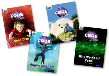 Project X CODE <i>Extra</i>: Gold Book Band, Oxford Level 9: Marvel Towers and CODE Control, Mixed Pack of 4