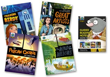 Project X Origins <i>Graphic Texts</i>: Grey Book Band, Oxford Level 14: Mixed Pack of 4