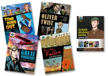 Project X Origins <i>Graphic Texts</i>: Dark Red+ Book Band, Oxford Level 20: Mixed Pack of 4