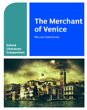 Oxford Literature Companions: The Merchant of Venice