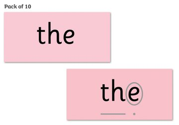 Read Write Inc. Phonics: Red Word Cards Pack of 10