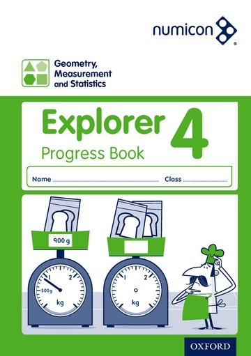 Numicon: Geometry, Measurement and Statistics 4 Explorer Progress Book (Pack of 30)