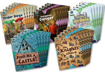 Project X Origins: Brown Book Band, Oxford Level 9: Knights and Castles: Class Pack 30