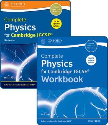 Complete Physics for Cambridge IGCSE Student Book and Workbook Pack