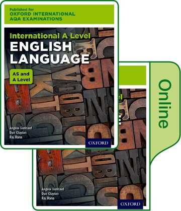 Oxford International AQA Examinations: International A Level English Language: Print and Online Textbook Pack
