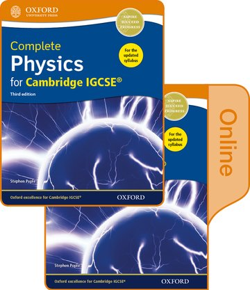 Complete Physics for Cambridge IGCSE Print and Online Student Book Pack