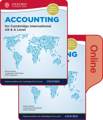 Accounting for Cambridge International AS  A Level Print and Online Student Book Pack