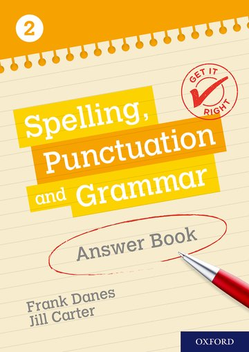 Get It Right: KS3; 11-14: Spelling, Punctuation and Grammar Answer Book 2