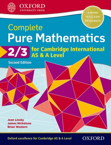 Complete Pure Mathematics 2  3 for Cambridge International AS  A Level