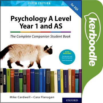 The Complete Companions: A Level Year 1 and AS Psychology Student Book 5th Edition Kerboodle Book