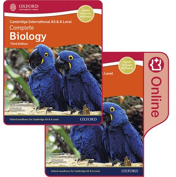 Cambridge International AS  A Level Complete Biology Enhanced Online  Print Student Book Pack