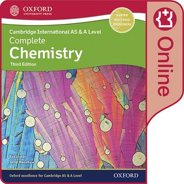 Cambridge International AS  A Level Complete Chemistry Enhanced Online Student Book