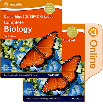 Cambridge IGCSE  O Level Complete Biology: Print and Enhanced Online Student Book Pack Fourth Edition