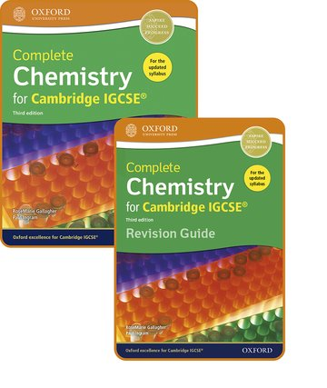 Complete Chemistry for Cambridge IGCSE: Student Book  Revision Guide Pack Third Edition