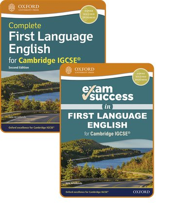 Complete First Language English for Cambridge IGCSE: Student Book  Exam Success Guide Pack