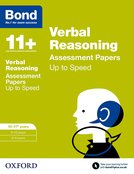 Bond 11+: Verbal Reasoning: Up to Speed Papers
