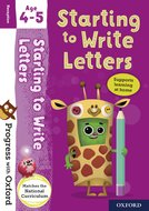 Progress with Oxford: Starting to Write Letters Age 4-5