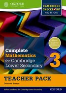 Complete Mathematics for Cambridge Lower Secondary Teacher Pack 3