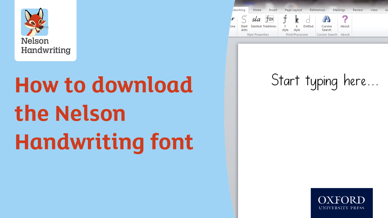 How to download the Nelson Handwriting font (video)