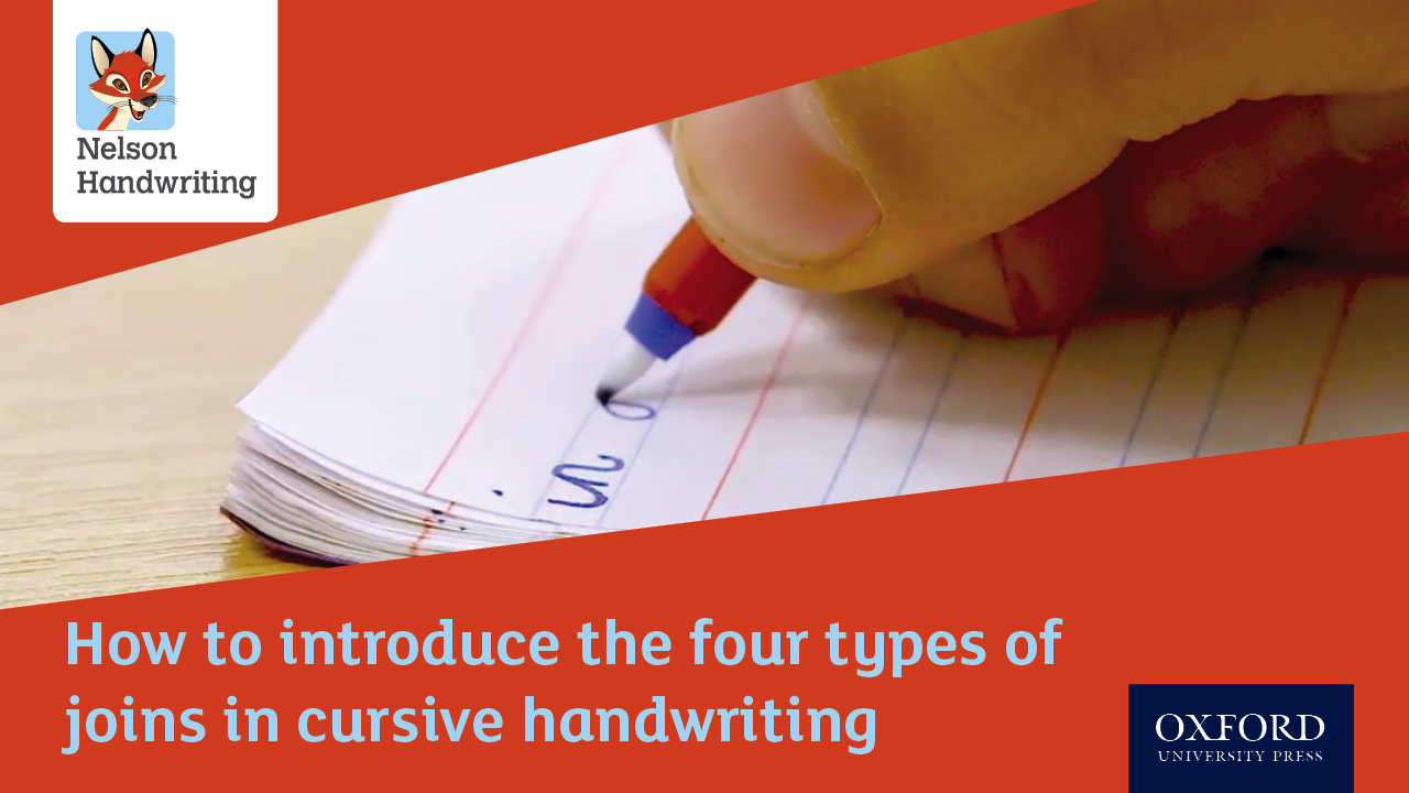 How to introduce the four types of joins in cursive handwriting (video)
