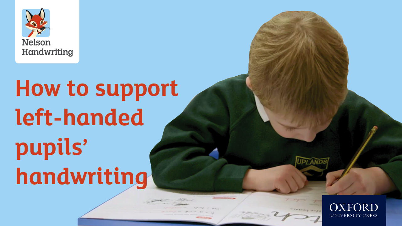 How to support left-handed pupils' handwriting (video)