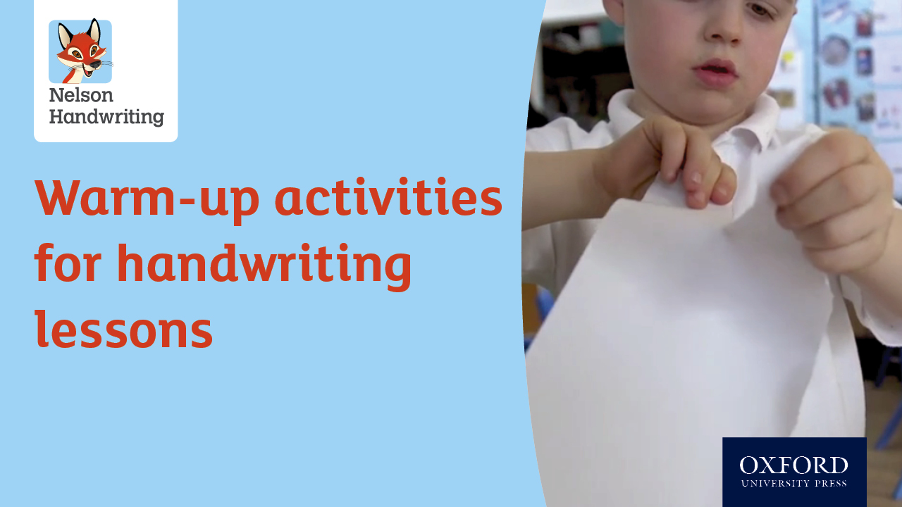 Warm-up activities for handwriting lessons (video)