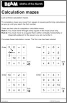 BEAM Counting 9-11 Calculation Mazes (PDF)