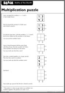 BEAM Counting 11-13 Multiplication Puzzles (PDF)