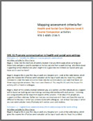 Health and Social Care Level 3 Diploma assessment criteria mapping (PDF)