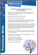 Functional Skills: Fact sheet 10 - Teaching the Practical Application of Knowledge (PDF)