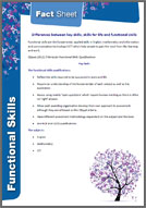 Functional Skills: Fact sheet 2 - Difference Between Key Skills, Skills for Life & Functional Skills (PDF)