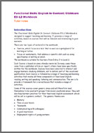 Functional Skills English In Context: Childcare E3 - L2 tutor notes (PDF)