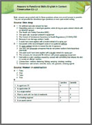 Functional Skills English In Context: Construction E3 - L2 answers (PDF)