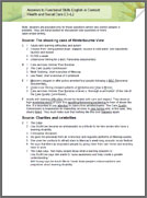 Functional Skills English In Context: Health & Social Care E3 - L2 answers (PDF)