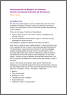Functional Skills English In Context: Health & Social Care E3 - L2 tutor notes (PDF)