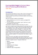 Functional Skills English In Context: Motor Vehicle Technology E3 - L2 tutor notes (PDF)
