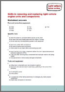 Replacing Light Vehicle Engine Units and Components tutor notes (PDF)