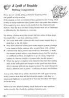 TreeTops: A Spell of Trouble Writing Activity Sheet (PDF)