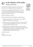 TreeTops: In the Shadow of the Striker Writing Activity Sheet (PDF)