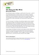 Traditional Tales: Level 2 The King and his Wish storyteller video notes (PDF)