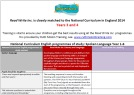 English National Curriculum: Read Write Inc. Spelling and Read Write Inc. Literacy and Language – Years 3-4